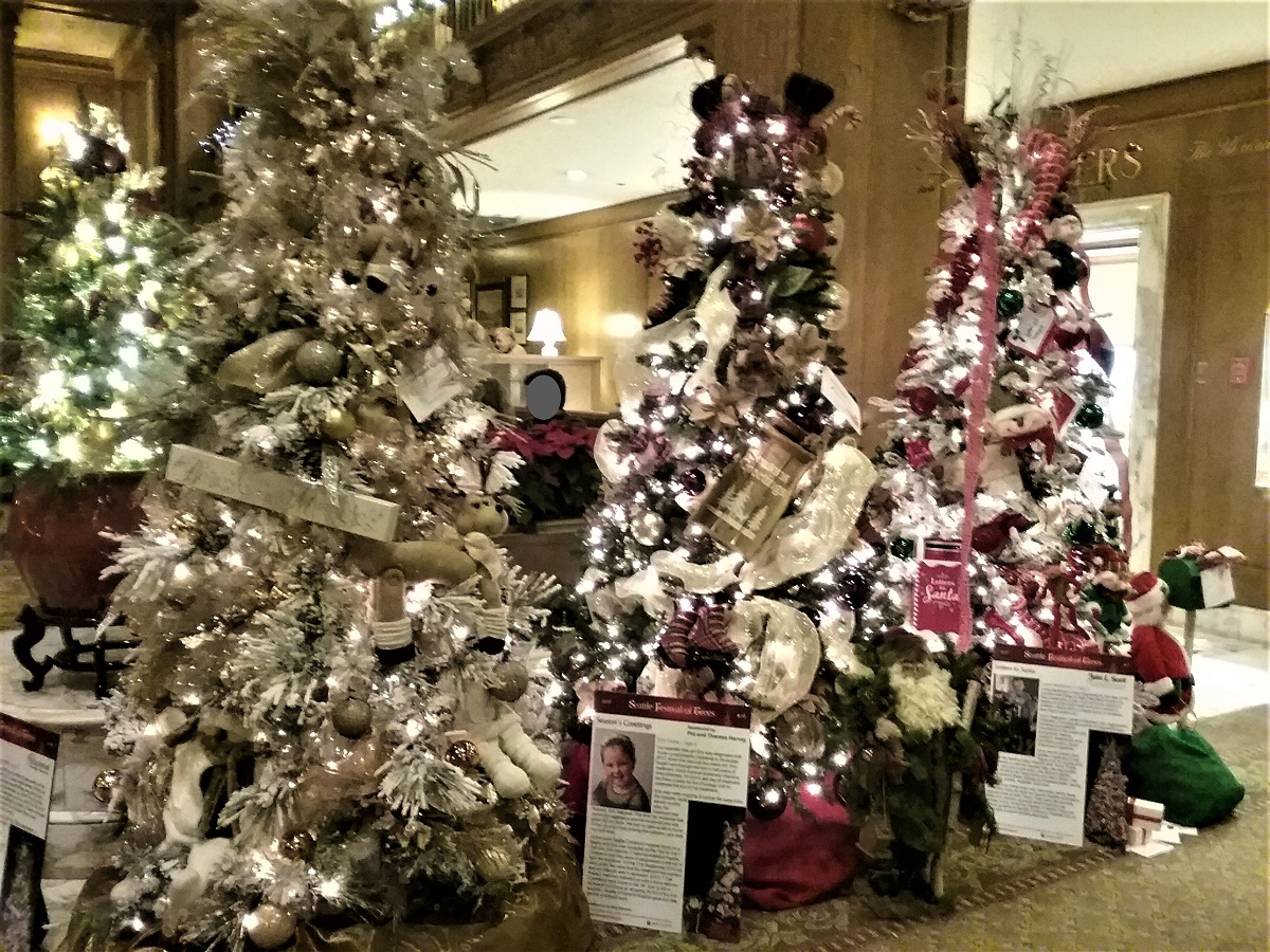 Seattle Christmas.Festival Of Christmas Trees At Fairmont Hotel Greater