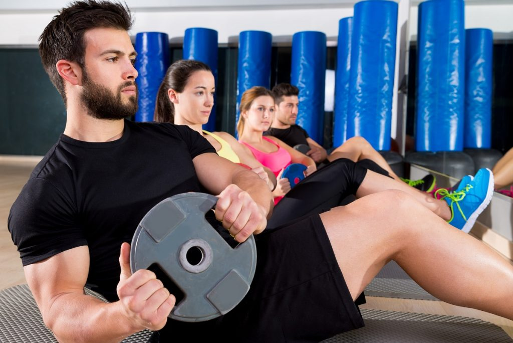 plate training group at gym
