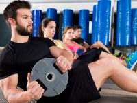 Abdominal plate training core group at gym - DepositPhotos.com
