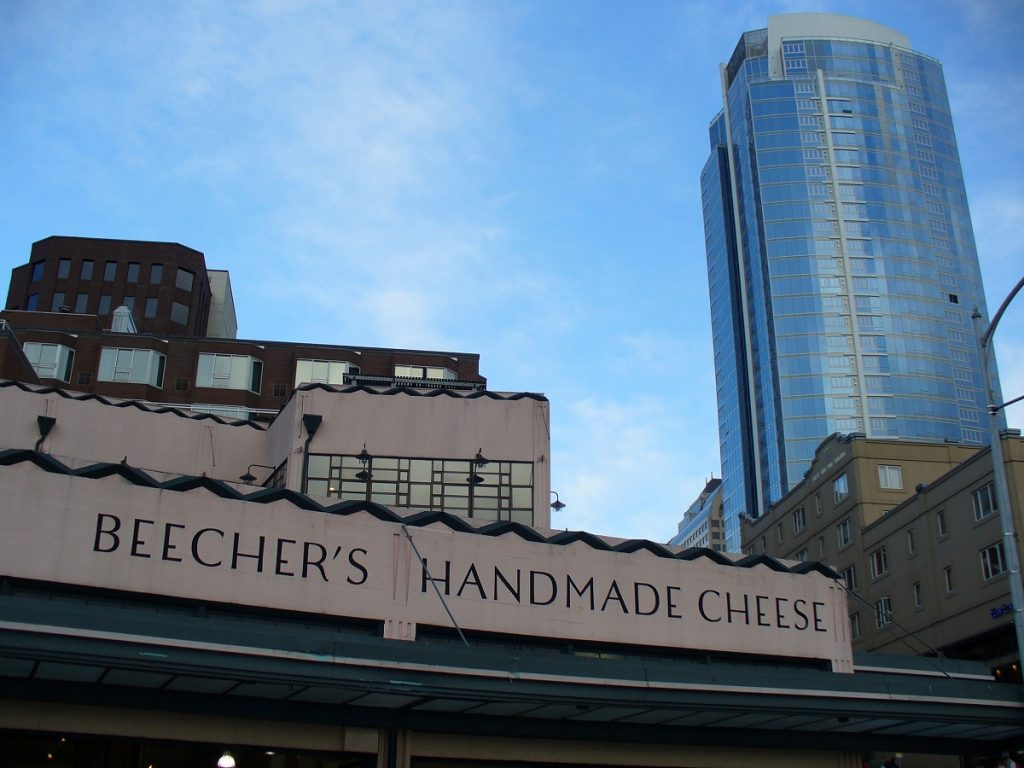 Beecher's Seattle store cheesemaking in action is like getting free cooking classes