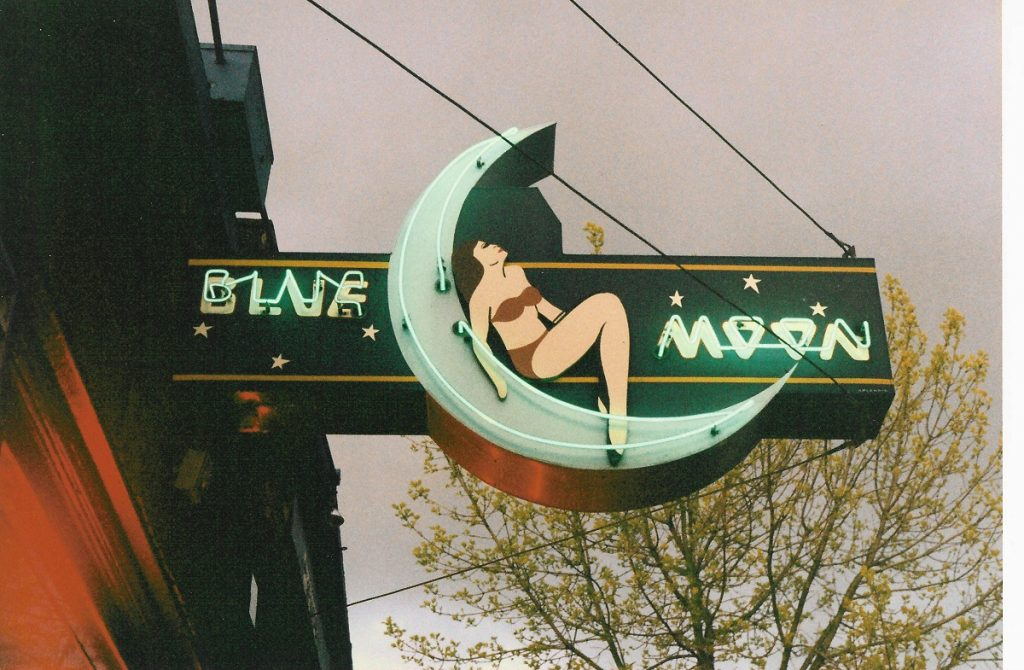 Blue Moon Tavern sign, Seattle 1993