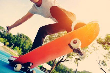 skateboarder doing a trick