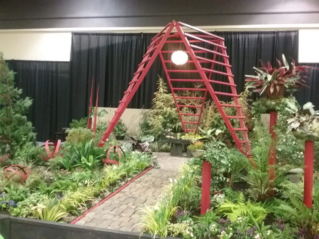 Northwest Flower Show Found Objects In Garden Design Photo By Carole Cancler