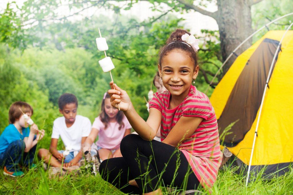 camping and smores