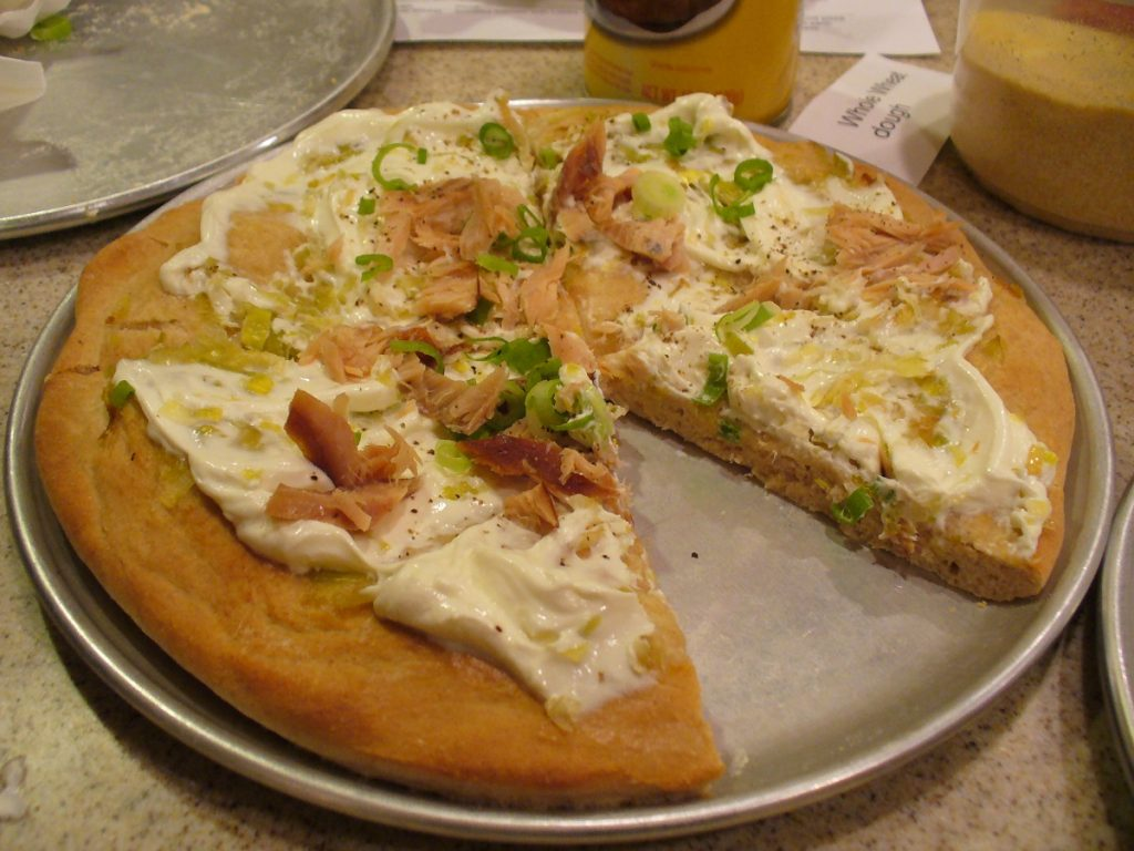 Smoked Salmon Pizza. Photo by Carole Cancler.