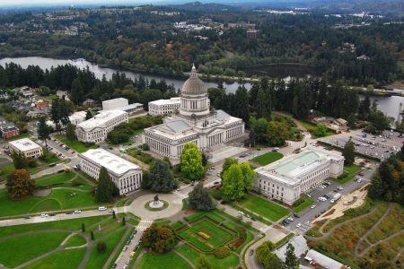 West Capitol Campus in Olympia, Washington. Photo by WSDOT (CC2)