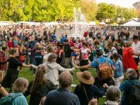 Folklife festival 2018 at Seattle Center fountain