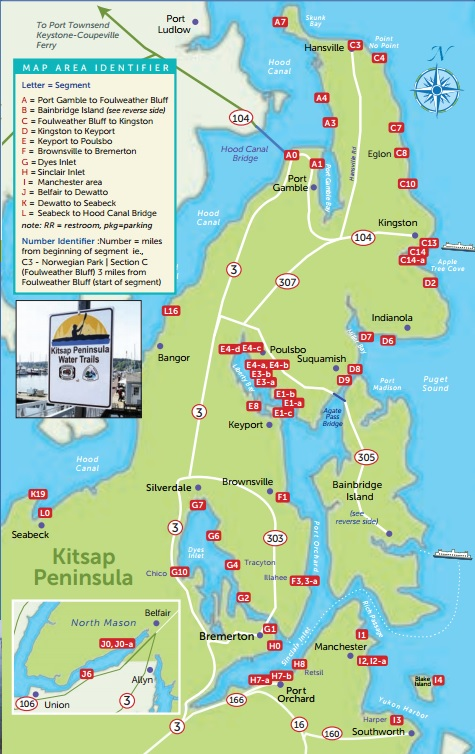 Kitsap Water Trail map