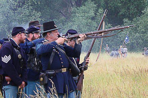 Civil War reenactment un Union Gap, WA