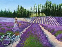 Julie Peterson painting 2018 Sequim Lavender Festival