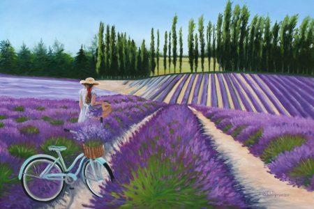 Julie Peterson painting 2018 Sequim Lavender Festival