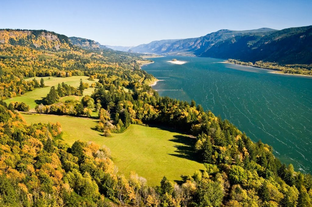 Columbia River Gorge from Cape Horn - U.S. Forest Service photo (public domain)