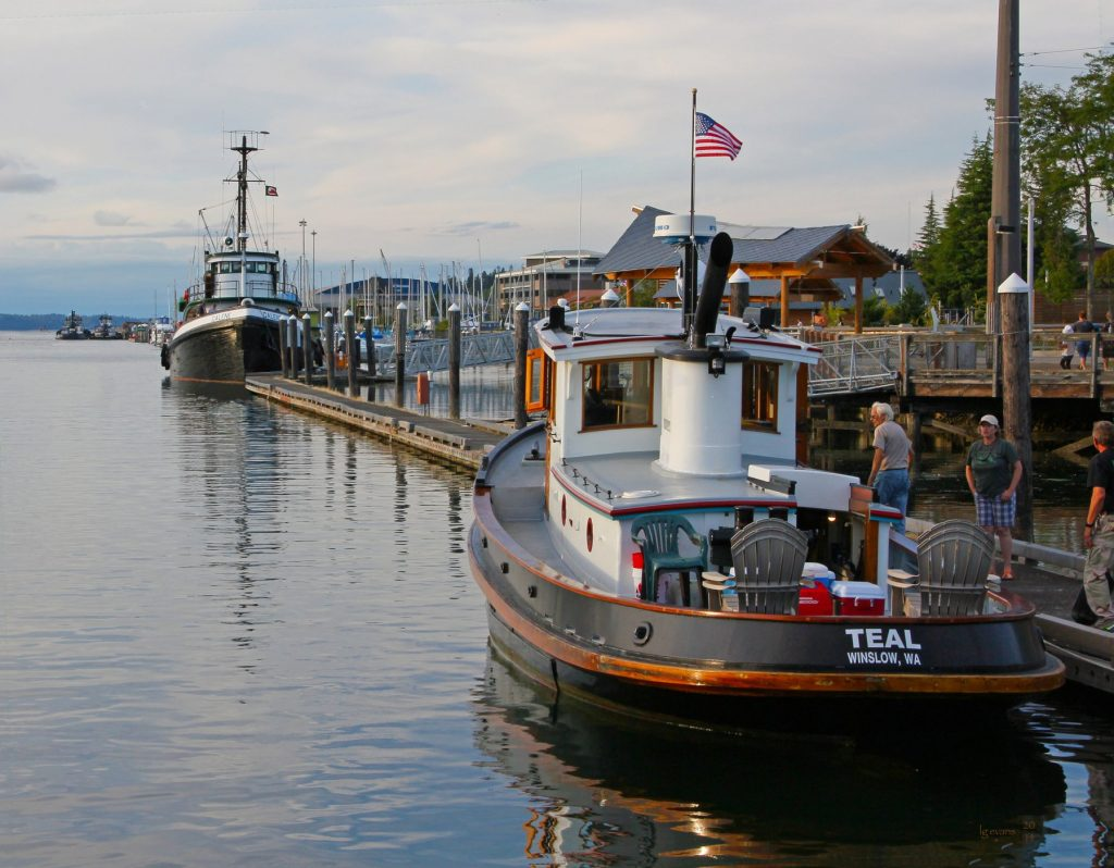 Tugboats on the Olympia waterfront. Photo by LG Evans Maritime Images.