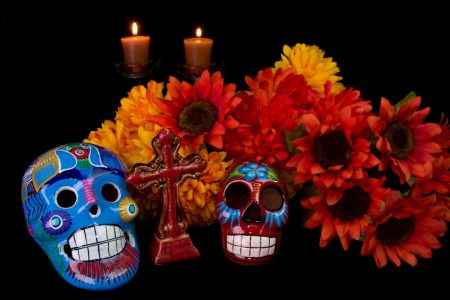 Dia De Los Muertos (Day of the Dead) Altar featuing traditional Mexican offerings to loved ones photo by wpd911 - DepositPhotos.com
