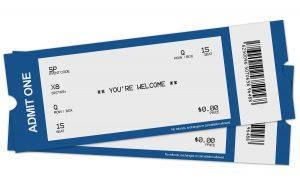 Two free tickets photo by pertusinas - DepositPhotos.com