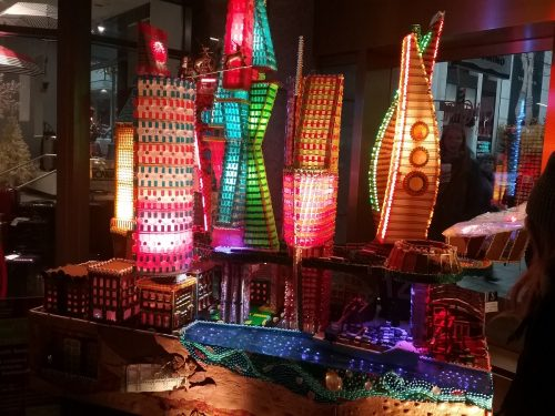 free gingerbread village at sheraton hotel