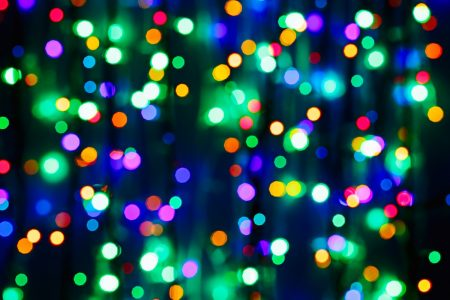 Holiday lights photo by MrHamster