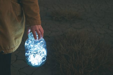 Jar lantern for a winter solsctice walk photo by chatsimo - DepositPhotos.com