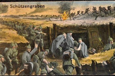 WWI postcard 'Im Shützengraben' (In the trenches), photo by Michael Postenrieder (CC3)