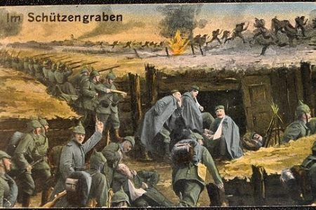 WWI postcard 'Im Shützengraben' (In the trenches), photo by Michael Postenrieder (CC3)
