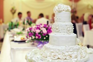 Wedding reception cake - DepositPhotos.com