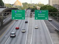 I-5 South Freeway in downtown Seattle