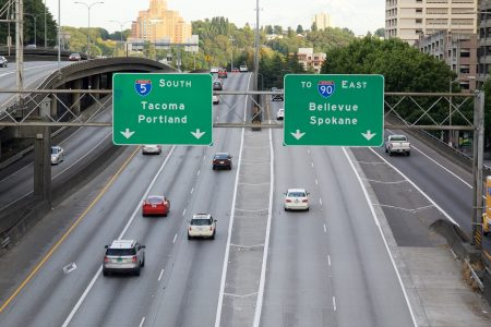 th Freeway in downtown Seattle