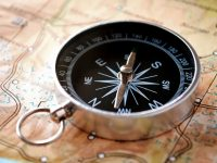 Map and compass for outdoor adventure - DepoistPhotos.com