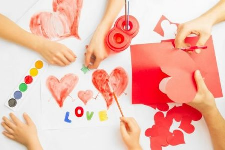 diy valentine card making