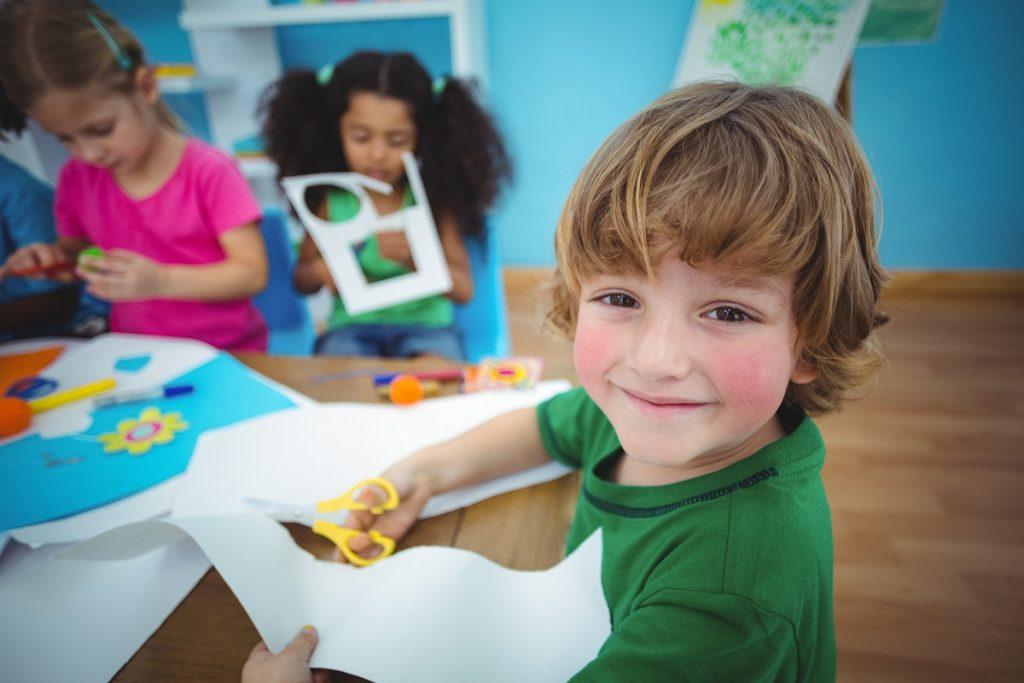 Kids doing arts and crafts - DepositPhotos.com