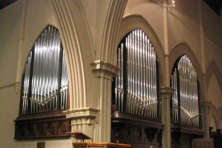Rene Marceau pipe organ at Trinity Parish Church Seattle WA
