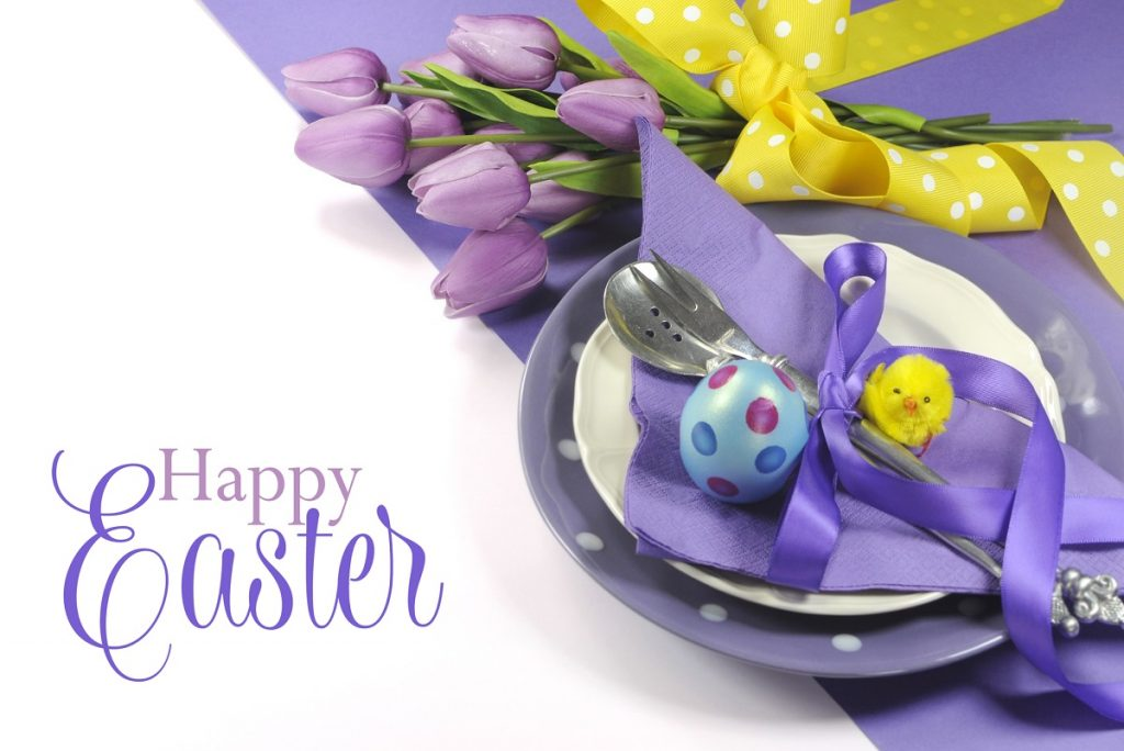 Easter table place setting