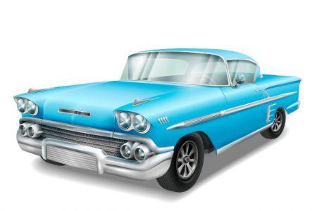 classsic car vector image