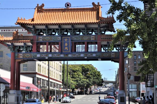 Seattle Chinatown Gate 2010 Photo by Joe Mabel - edited (CC3)