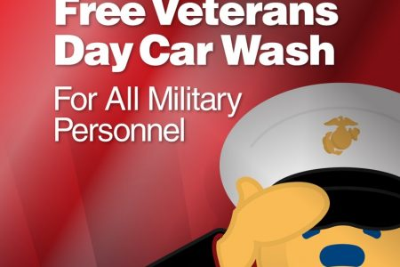 Brown Bear free car wash Veterans Day