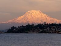 Mt. Rainier over Ruston Way in Tacoma