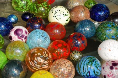 hand blown glass balls