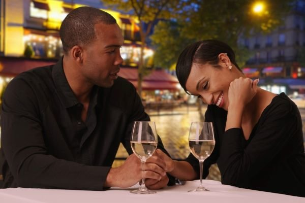 Couple enjoying a romantic dinner