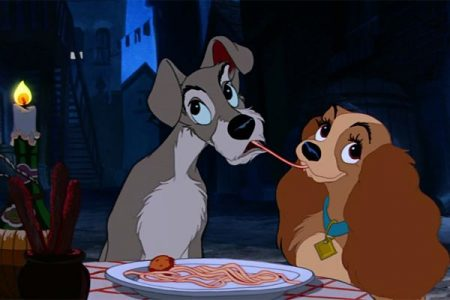 Disney Movie Lady and the Tramp spaghetti dinner