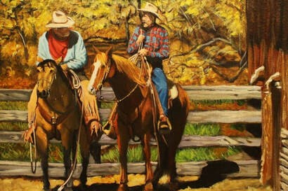 Spirit of the West cowboy gathering 2020 poster banner