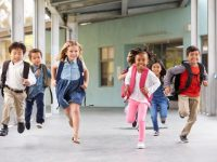 Kids getting out of school