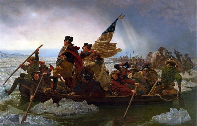Washington Crossing the Delaware painting by Emanuel Leutze (public domain)
