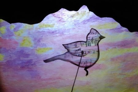 Paper Puppet Opera image bird in clouds