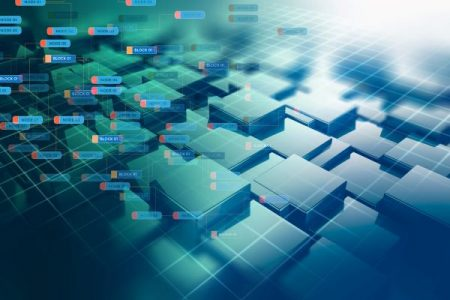 blockchain technology network concept