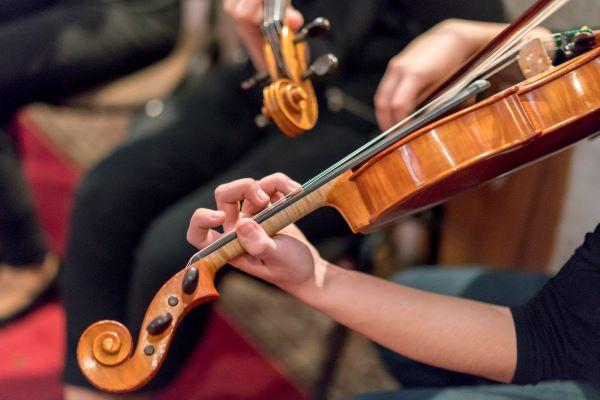 string quartet playing music