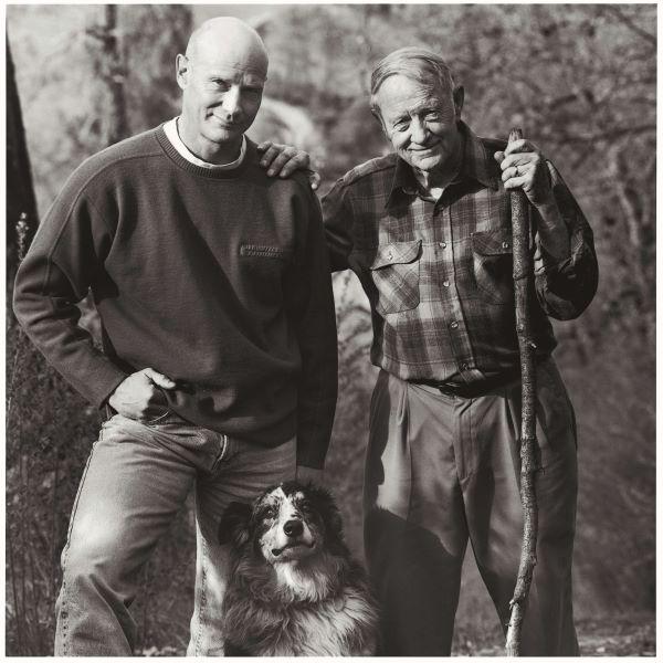Gary Erickson with his father Clifford