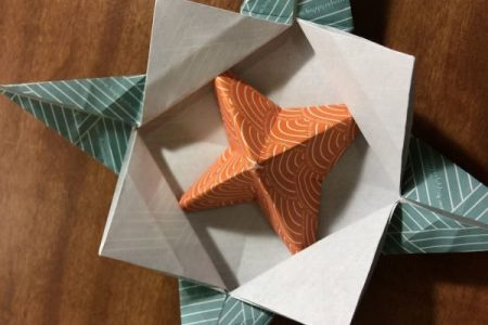 KCLS Origami class - spinner