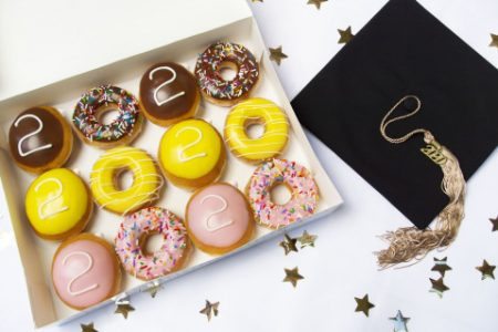"Krispy Kreme box of 2020 ""Graduation Dozen"" donuts"
