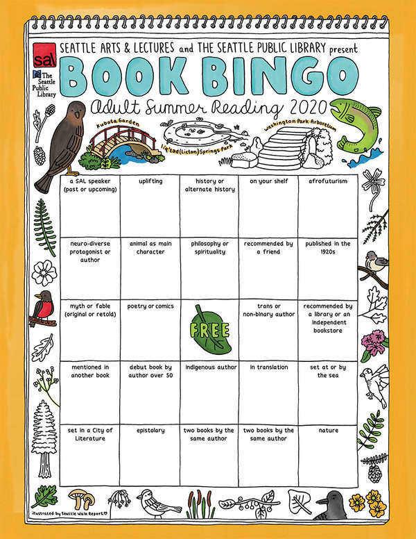 Seattle Public library 2020 book bingo card