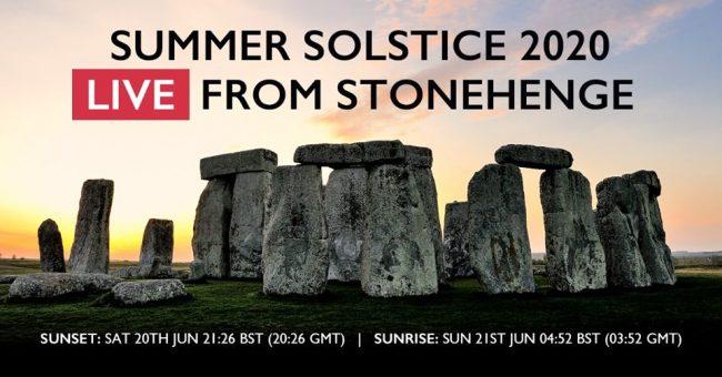 Summer solstice 2020 LIVE from Stonehenge Facebook banner